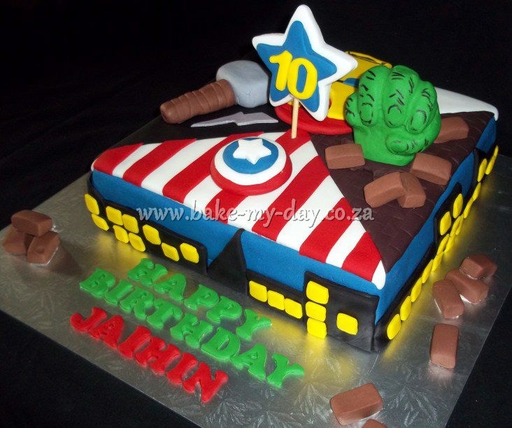 ... birthday on Pinterest  Kleenex box, Birthday cakes and Avenger party