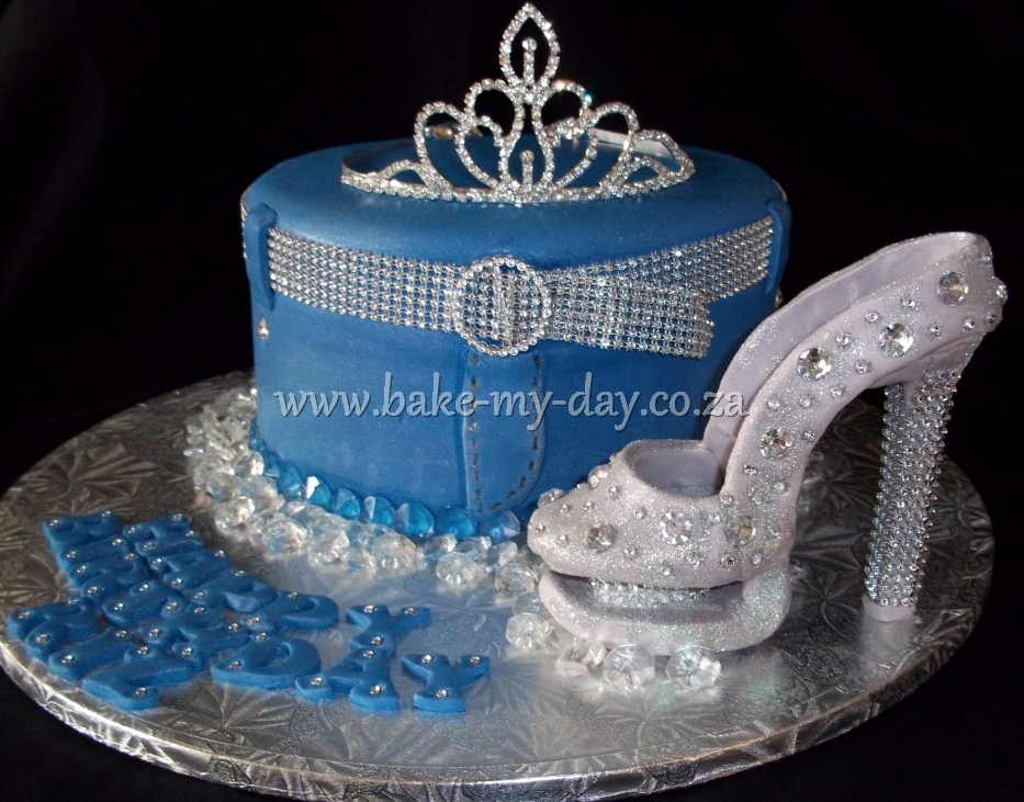 denim and diamonds cakes