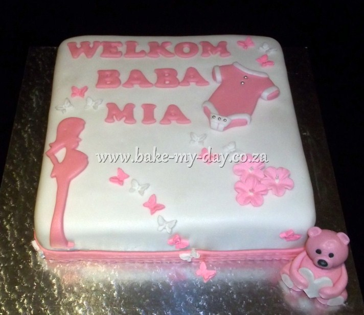 Baby Welcome Cake Images : Bake My Day Stork Parties Page